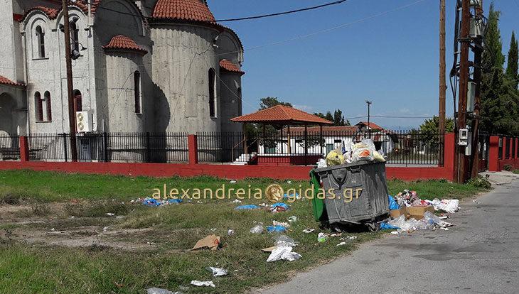 Αναγνώστης: Σκουπιδότοπος μπροστά στον Άγιο Αλέξανδρο Αλεξάνδρειας (φώτο)