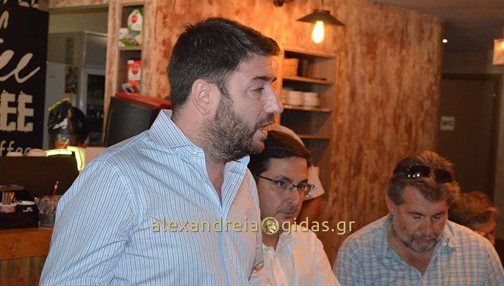 Στην Αλεξάνδρεια βρέθηκε ο υποψήφιος για την ηγεσία της Δημοκρατικής Παράταξης Νίκος Ανδρουλάκης (φώτο-βίντεο)