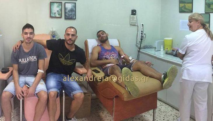 Κίνηση ανθρωπιάς από ποδοσφαιριστές της Νάουσας: Έδωσαν αίμα για την 18χρονη Ελένη από το τροχαίο στη Θεσσαλονίκη