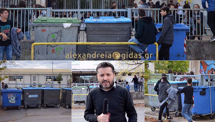 Κατάληψη στα 2ο ΓΕΛ και 2ο Γυμνάσιο Αλεξάνδρειας, δεν συμμετέχει η Γ΄ Λυκείου – ποια τα αιτήματα των μαθητών (ρεπορτάζ-βίντεο)