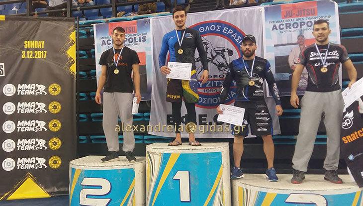 Χρυσός στο Πανελλήνιο πρωτάθλημα Brazilian Jiu-jitsu No-Gi ο Αντώνης Κούγκας από την Αλεξάνδρεια! (φώτο)