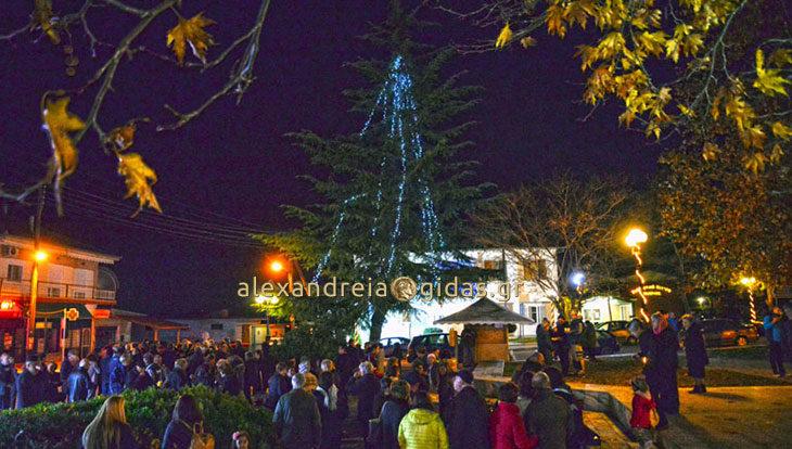 Άναψε το Χριστουγεννιάτικο Δέντρο στη Μεθώνη! (φώτο)