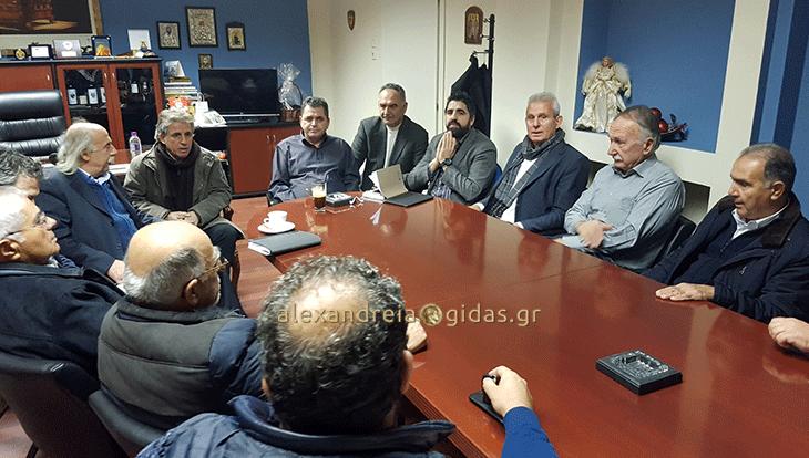 Εποικοδομητική σύσκεψη – συνάντηση στο γραφείο του Κ. Καλαϊτζίδη με τους προέδρους των ΤΟΕΒ Ημαθίας