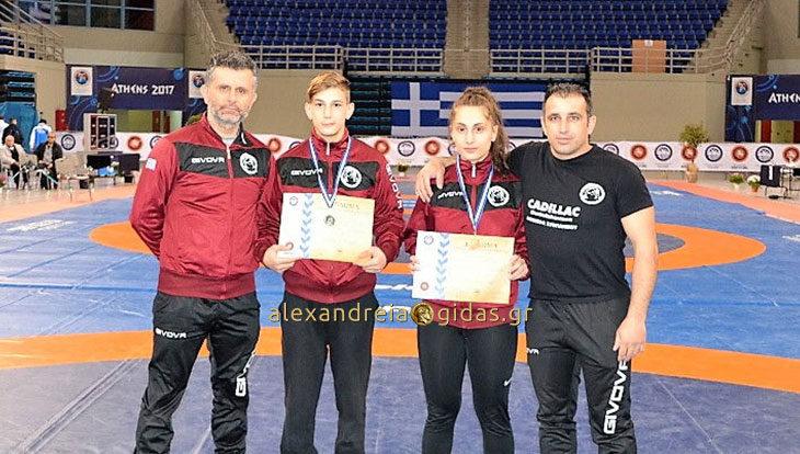 2 μετάλλια για τους παλαιστές της Αλεξάνδρειας στο πανελλήνιο πρωτάθλημα (φώτο)
