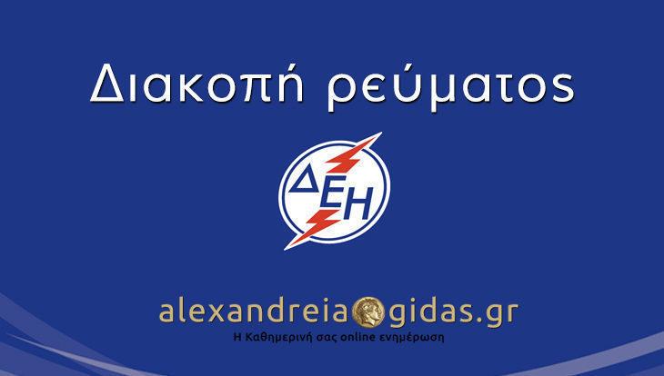 ΠΡΟΣΟΧΗ: Χωρίς ρεύμα αύριο Τετάρτη χωριά του δήμου Αλεξάνδρειας (ανακοίνωση)