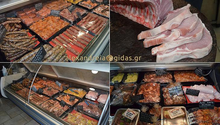 Φρέσκα, ντόπια, Ελληνικά κρέατα στο κρεοπωλείο ΤΟΛΗΣ στην Αλεξάνδρεια – επιλέξτε! (φώτο)