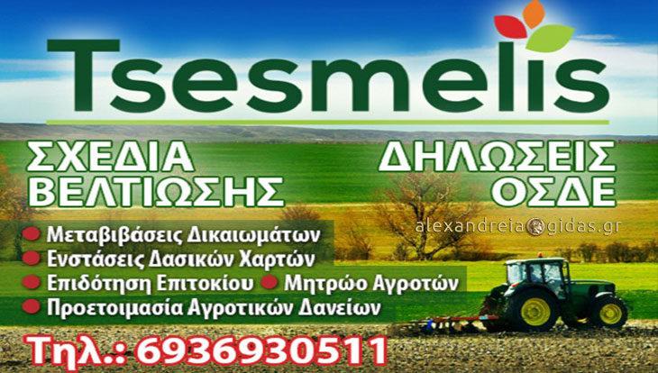 Δηλώσεις ΟΣΔΕ στην εταιρία TSESMELIS: Με τα δικαιώματα των αγροτών δεν παίζουμε!