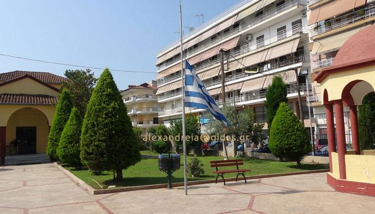 Μεσίστια κυματίζει η σημαία στην Παναγία Αλεξάνδρειας από το πρωί για το θέμα των Σκοπίων (φώτο-βίντεο)