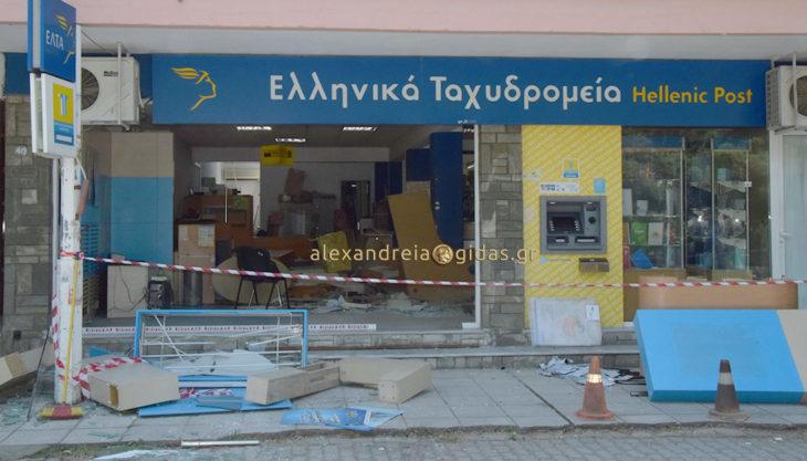 Ληστεία με θράσος στο κέντρο της Αλεξάνδρειας – έσπασαν την είσοδο του ταχυδρομείου και πήραν το χρηματοκιβώτιο (φώτο-βίντεο)