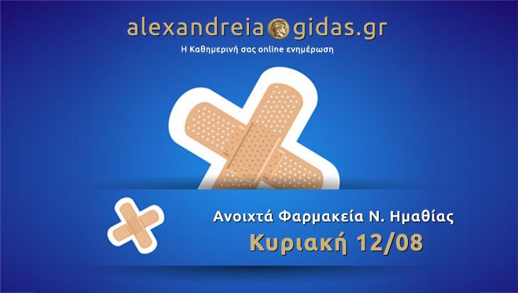 Ανοιχτά φαρμακεία Ημαθίας Κυριακή 12 Αυγούστου