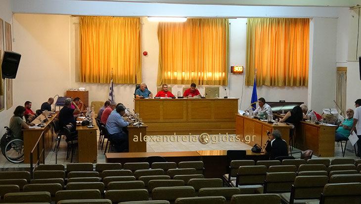 Με το ζόρι έγινε η μεσημεριανή έκτακτη συνεδρίαση του δημοτικού συμβουλίου Αλεξάνδρειας (φώτο-βίντεο)
