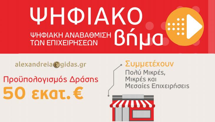 Ξεκίνησαν οι αιτήσεις για τη Δράση «Ψηφιακό Βήμα» του ΕΣΠΑ στην EXELIXIS στην Αλεξάνδρεια!