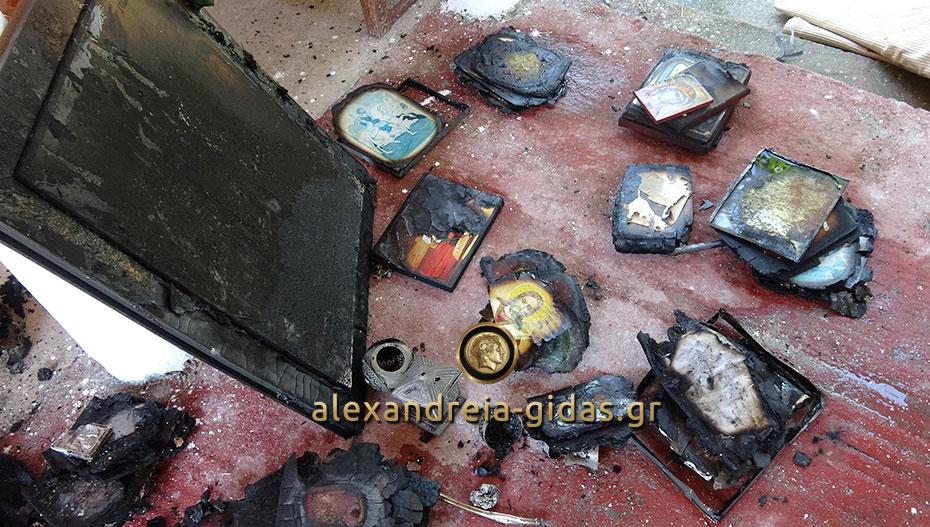 Πριν λίγο: Φωτιά έκαψε εικόνες και αντικείμενα σε εκκλησάκι της Αγκαθιάς (φώτο-βίντεο)