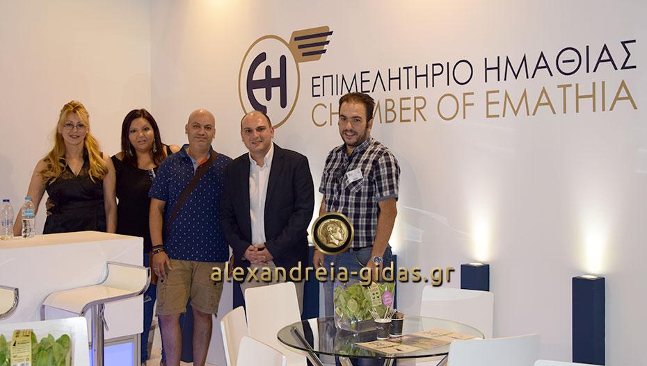 Τις επιχειρήσεις της Ημαθίας στην 83η ΔΕΘ επισκέφτηκε ο πρόεδρος της ΟΝΝΕΔ Ημαθίας (φώτο)
