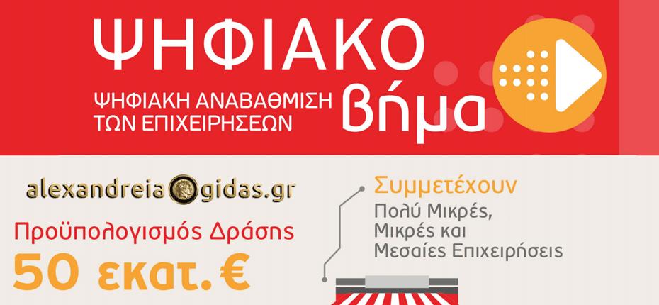 Aιτήσεις για τη Δράση «Ψηφιακό Βήμα» του ΕΣΠΑ στην EXELIXIS στην Αλεξάνδρεια – προλάβετε!