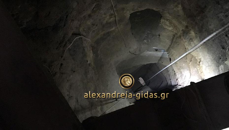 Αυτό είναι το τούνελ που έσκαψαν οι επίδοξοι χρυσοθήρες στη Βέροια (φώτο-βίντεο)