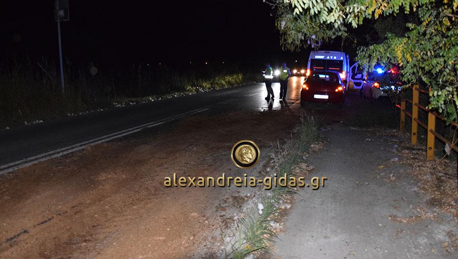 Αστυνομική δύναμη πριν λίγο στον Σχοινά – προσοχή στους οδηγούς για την ολισθηρότητα (φώτο)