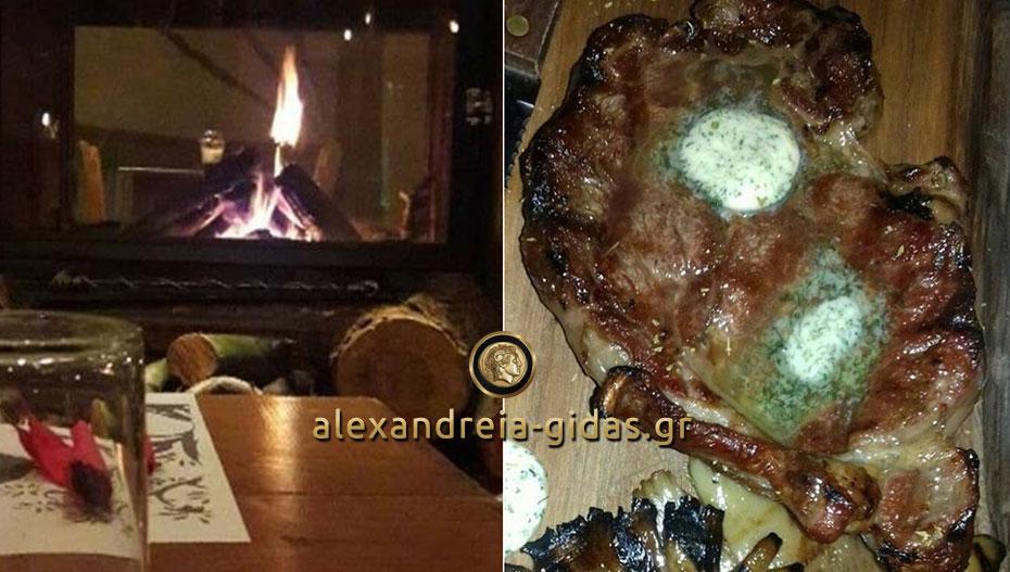 Μεσημέρι Κυριακής με τζάκι και steaks στο OLIVE στον πεζόδρομο – το βράδυ burgers! (φώτο)