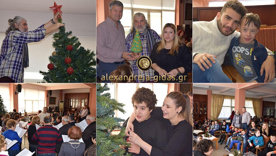 Το Ειδικό Σχολείο στόλισε και άναψε το Χριστουγεννιάτικο Δέντρο στο ΚΑΠΗ Αλεξάνδρειας! (φώτο-βίντεο)