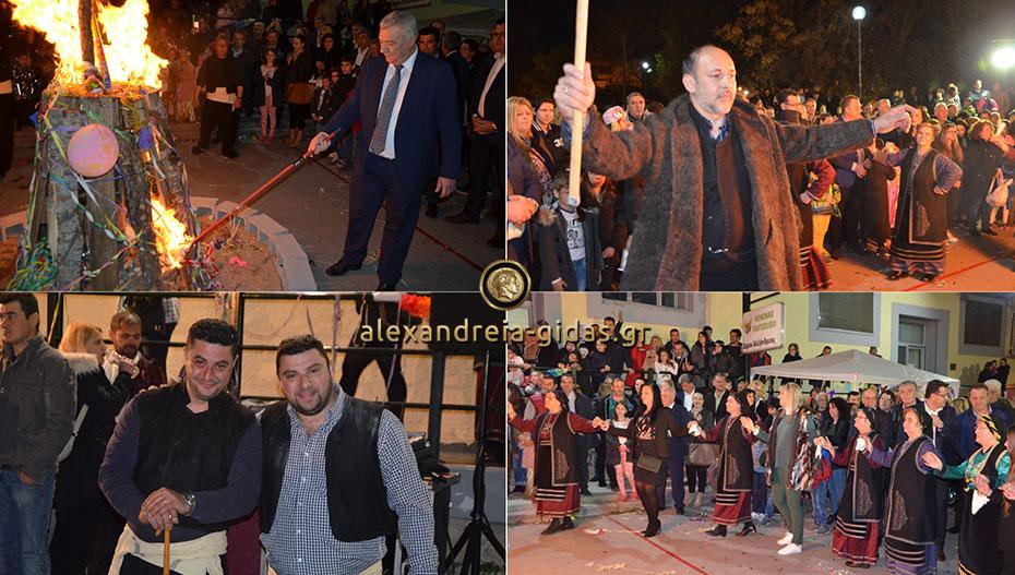 Με πολύ κόσμο άναψε και φέτος ο Φανός του Αμάραντου στην Αλεξάνδρεια (φώτο-βίντεο)