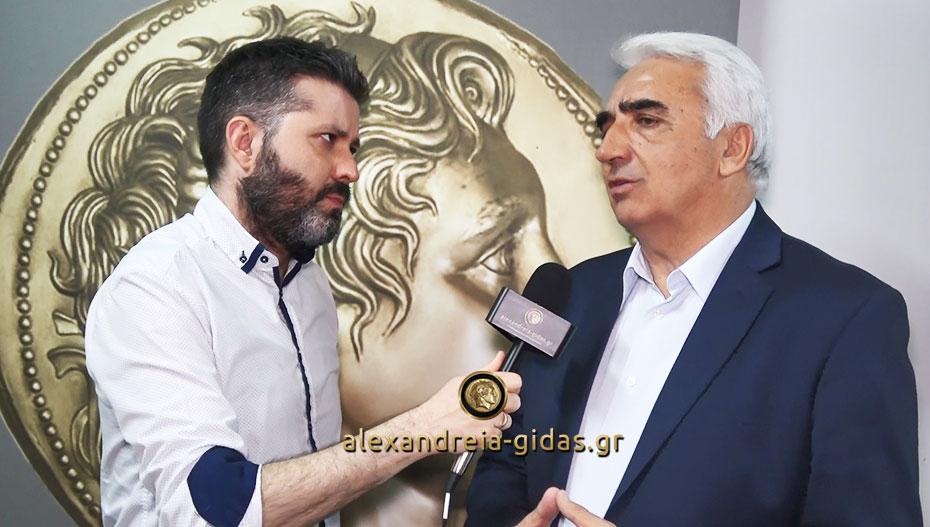 Ο Μιχάλης Χαλκίδης στο Αλεξάνδρεια-Γιδάς για την εκδήλωση (βίντεο)