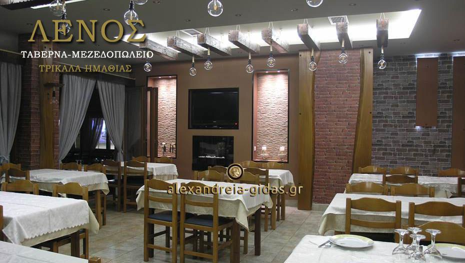 Η ταβέρνα-μεζεδοπωλείο ΛΕΝΟΣ στα Τρίκαλα ανακαινίστηκε και σας περιμένει με υπέροχες γεύσεις! (εικόνες)
