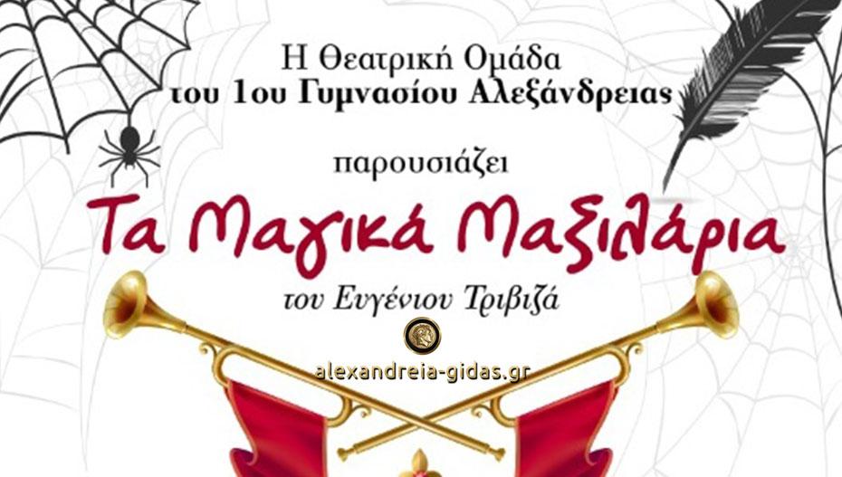 Στο Πνευματικό Κέντρο Αλεξάνδρειας θα παρουσιάσει «Τα μαγικά μαξιλάρια» το 1ο Γυμνάσιο