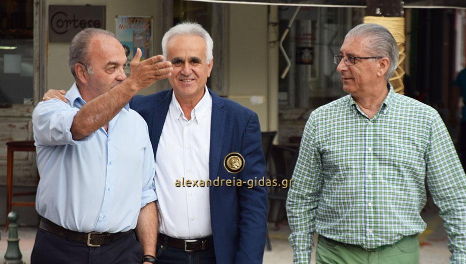 Στην Αλεξάνδρεια βρέθηκε ο υποψήφιος περιφερειακός σύμβουλος Στέργιος Μουρτζίλας (εικόνες)