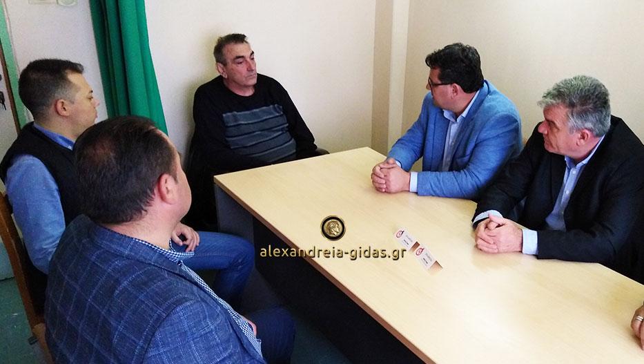 Με τον πρόεδρο του Κέντρου Υγείας Αλεξάνδρειας συναντήθηκε σε θετικό κλίμα ο Κώστας Ναλμπάντης (εικόνες)