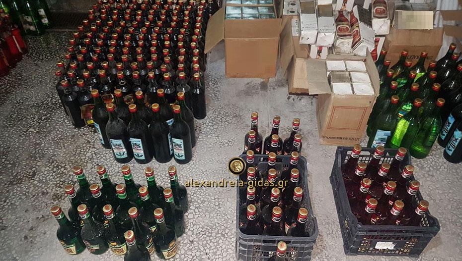 Θα γέμιζε την αγορά με 2.200 φιάλες λαθραίων ποτών – τα διαφήμιζε στα social media (εικόνες)