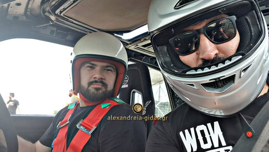 Θέαμα σε αγώνες Drift για τον Γρηγόρη Βαβάμη από την Αλεξάνδρεια (εικόνες)