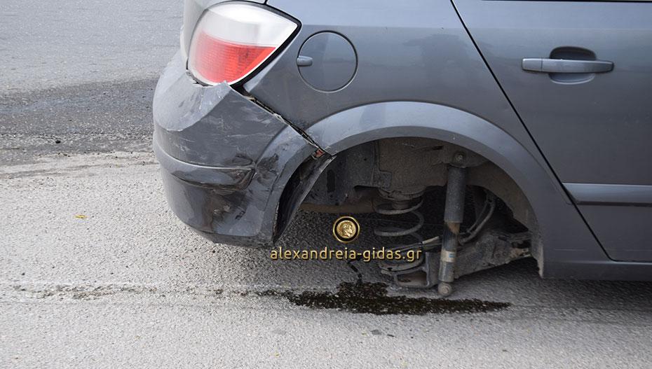 Πριν λίγο: Τροχαίο ατύχημα στην έξοδο της Αλεξάνδρειας (εικόνες-βίντεο)