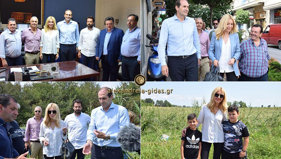 Στην Ημαθία το πρωί η υφυπουργός αγροτικής ανάπτυξης Φωτεινή Αραμπατζή (αποκλειστικές εικόνες)