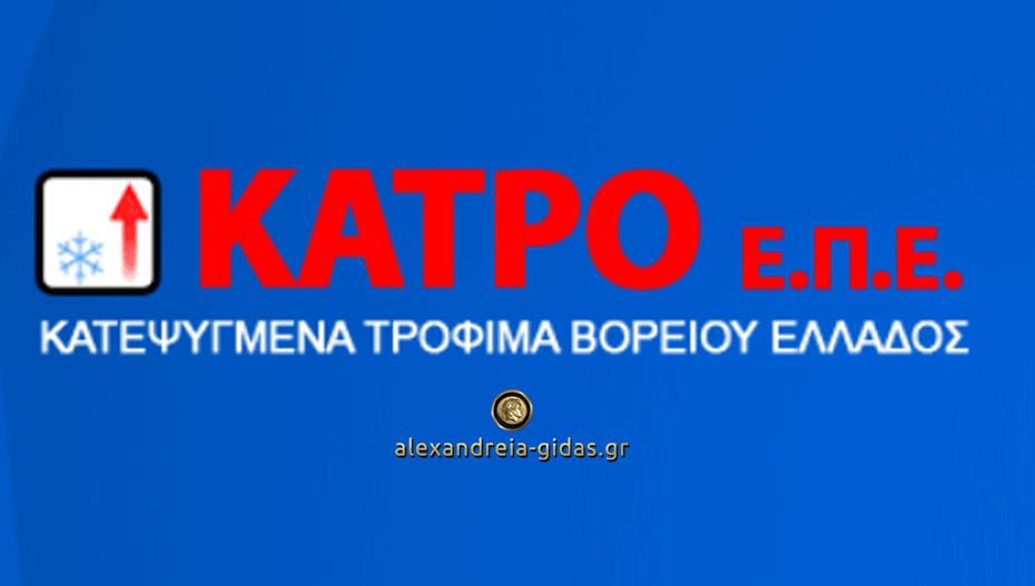 Θέσεις εργασίας πλήρους απασχόλησης στην «ΚΑΤΡΟ ΕΠΕ» στα Γιαννιτσά (πληροφορίες)