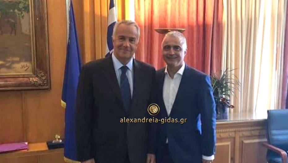 Ξανά στο Υπουργείο Αγροτικής Ανάπτυξης ο Τσαβδαρίδης: «Να διασφαλιστεί το εισόδημα των αγροτών της Ημαθίας»