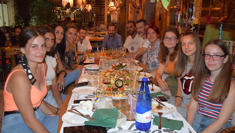 Γεύμα γνωριμίας για το βόλεϊ του ΓΑΣ Αλεξάνδρειας στο OLIVE (εικόνες)