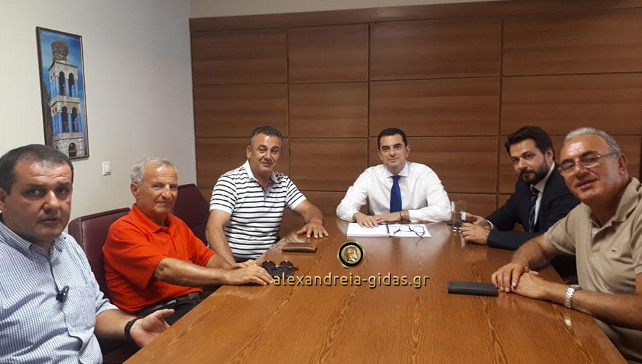 Με τον υφυπουργό Αγροτικής Ανάπτυξης συναντήθηκαν αγρότες από την Ημαθία