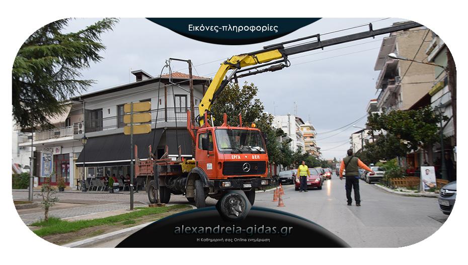 ΤΩΡΑ: Εργασίες του ΔΕΔΔΗΕ στον κέντρο της Αλεξάνδρειας – ποιοι δρόμοι είναι χωρίς ρεύμα