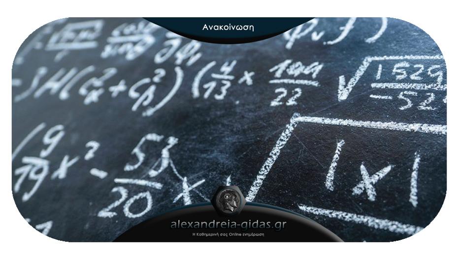 Ποιοι μαθητές της Ημαθίας διακρίθηκαν στους μαθηματικούς διαγωνισμούς «Θαλής» και «Υπατία»