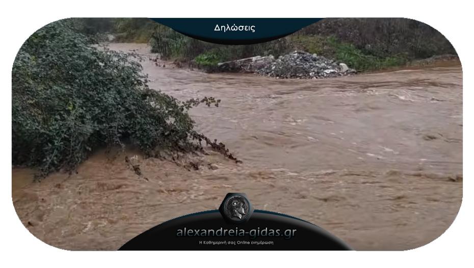 Πως περιέγραψε την περιπέτειά του ο αγρότης που παρασύρθηκε από τα νερά στην Ημαθία: «Την γλίτωσα..»