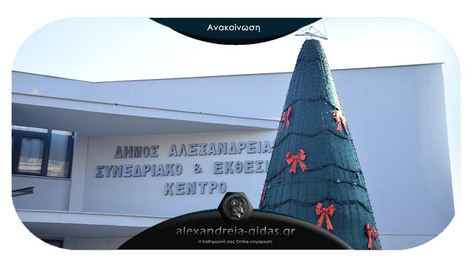 Τι ώρα θα ανάψει σήμερα Δευτέρα το Χριστουγεννιάτικο Δέντρο στην Αλεξάνδρεια