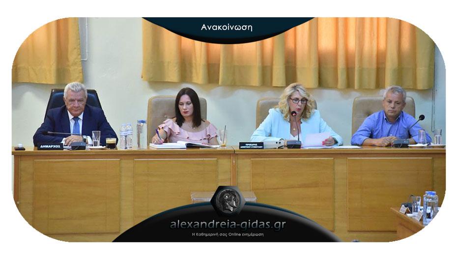 Δια περιφοράς με 8 θέματα την Παρασκευή το δημοτικό συμβούλιο Αλεξάνδρειας