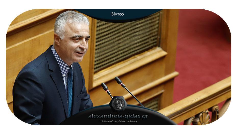 Τσαβδαρίδης στη Βουλή: «Τίτλους τέλους» στο καρκίνωμα των παράνομων ελληνοποιήσεων