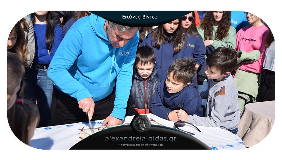 Έκοψαν την πρωτοχρονιάτικη βασιλόπιτα οι τενίστες του ΖΕΦΥΡΟΥ Αλεξάνδρειας