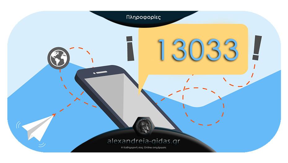 Βήμα βήμα για το πώς λειτουργεί το SMS στο 13033 – παράδειγμα αποστολής