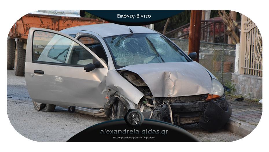 Τροχαίο ατύχημα το πρωί στον δήμο Αλεξάνδρειας