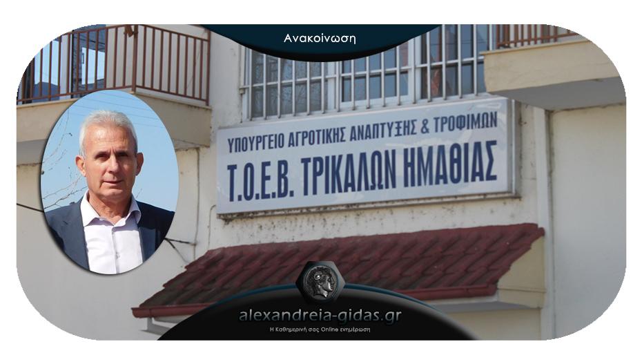 TOEB Τρικάλων: Μέχρι 10 Ιουνίου να καθαριστούν τα καναλέτα