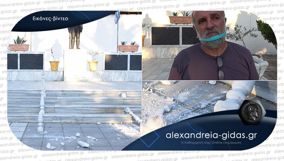 Βανδάλισαν εκ νέου το άγαλμα του Πόντιου Ακρίτα στην Αλεξάνδρεια – έσκισαν και πέταξαν τη σημαία