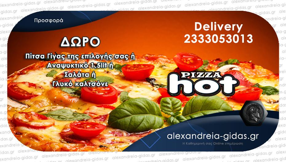 Διαλέξτε 2 πίτσες κλασσικές ή ειδικές από τον κατάλογο της PIZZA HOT και πάρτε ΔΩΡΟ!