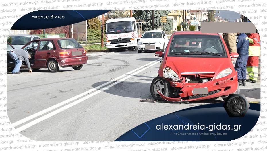 Πριν λίγο: Τροχαίο ατύχημα στην είσοδο της Αλεξάνδρειας – συγκρούστηκαν δύο Ι.Χ.